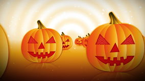 Belebende Halloween-Kürbise lizenzfreie abbildung