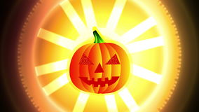 Belebender Halloween-Kürbis lizenzfreie abbildung