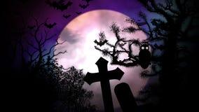 Belebender Halloween-Kirchhof vektor abbildung