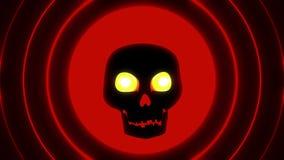 Belebender Halloween-Rot-Schädel lizenzfreie abbildung