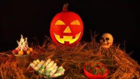Belebt von Halloween-Thema mit Stütze stock video