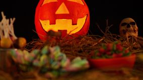 Belebt von Halloween-Thema mit Stütze stock footage
