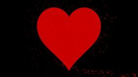 belebten glückliche Tagesgrüße der Valentinsgruß-4K Typotext mit Alphakanal stock video