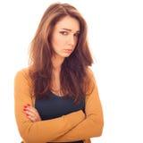 Beledigde vrouw Stock Foto's