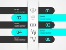 Beleg-Papier Infographics Lizenzfreie Stockfotografie