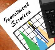Beleggingsdiensten die Investerend Opties 3d Illustratie betekenen vector illustratie