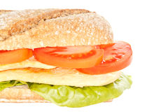 Belegtes Brot mit Hühnerfleisch Stockfotos