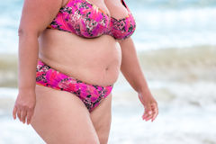 Fette Frau im Badeanzug stockbild. Bild von dame, gluttony - 81374443 d0b6daadf0