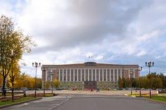Beleid de Bouw van het gebied van Veliky Novgorod, Rusland Royalty-vrije Stock Foto