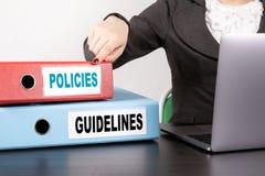 Beleid en Richtlijnenconcept stock foto's