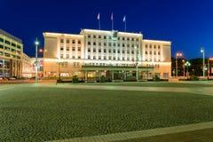 Beleid van stadsdistrict op Overwinningsvierkant, Kaliningrad Royalty-vrije Stock Fotografie