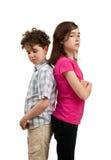 Beleidigte Kinder Stockbild