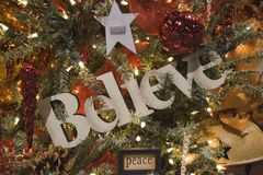 Beleive and Peace Ornament Royalty Free Stock Images