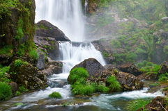 Belelle river Waterfall. Neda, A Coruña, Spain Royalty Free Stock Photo