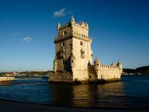 belem de lisboa portugal torre Royaltyfri Bild