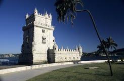belem de lisboa portugaliatorre Fotografering för Bildbyråer