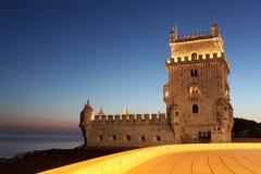 belem de lisbon portugal torre Arkivbilder