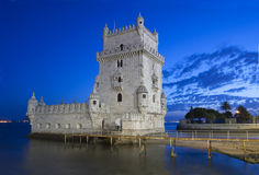 belem de lisbon torre Arkivbilder