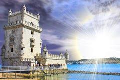 belem de lisbon torre Royaltyfri Bild