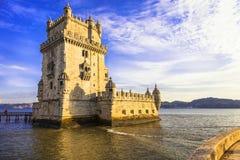 belem de torre lisbon Португалия Стоковая Фотография