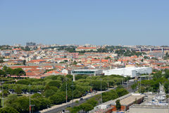 Belem District skyline, Lisbon, Portugal Stock Images
