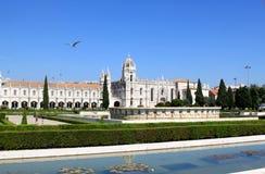 belem dos jeronimos mosteiro Portugal Obraz Stock