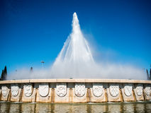 Belem fountain with blazons Royalty Free Stock Images
