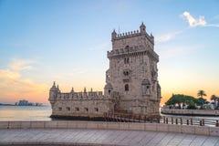 Belem góruje - historycznego zabytek w Lisbon, Portugalia Obrazy Stock