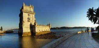 Belem Góruje, Torre de Belem, Lisbon, Portugalia Zdjęcia Royalty Free