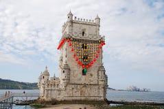 Belem-Kontrollturm in Lissabon Stockfotos