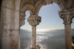 Belem-Kontrollturm, Lissabon stockfoto