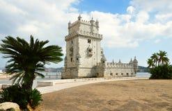 Belem-Kontrollturm in Lissabon stockbild