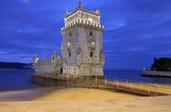 Belem-Kontrollturm - Lissabon Stockfotos