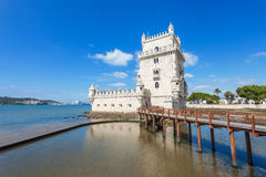 Belem-Kontrollturm, Lissabon stockbilder