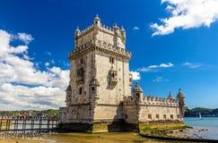 Belem-Kontrollturm in Lissabon lizenzfreies stockfoto