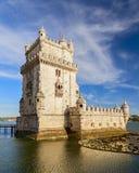 Belem-Kontrollturm in Lissabon lizenzfreie stockbilder