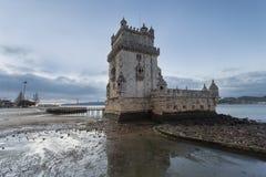 Belem-Kontrollturm in Lissabon, Portugal Stockfotos