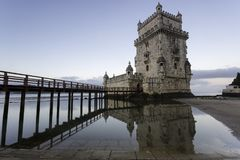 Belem-Kontrollturm in Lissabon, Portugal Lizenzfreies Stockbild