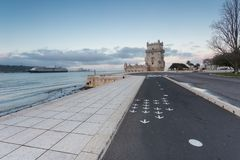 belem lisbon portugal torn Royaltyfri Bild
