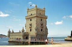 belem lisbon portugal torn Royaltyfria Foton