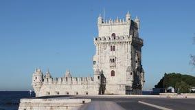 belem lisbon portugal torn stock video