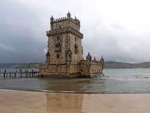 belem lisbon torn Arkivbild