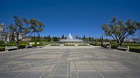 Belem parc with fountain stock images