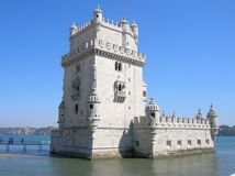 belem Portugal Lizbońskiej tower obrazy royalty free