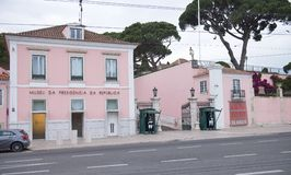 Belem slott i Lisbon arkivbild