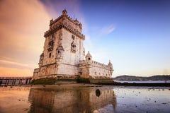 Belem torn av Lissabon Arkivfoton