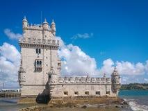 Belem torn eller torn av St Vincent lisbon portugal fotografering för bildbyråer