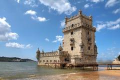 Belem torn, Lisbon, Portugal Royaltyfri Fotografi