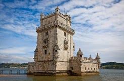 Belem torn (Torre de Belem) i Lissabon Royaltyfri Foto