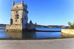 Belem torn - Torre De Belem i Lissabon Royaltyfria Bilder
